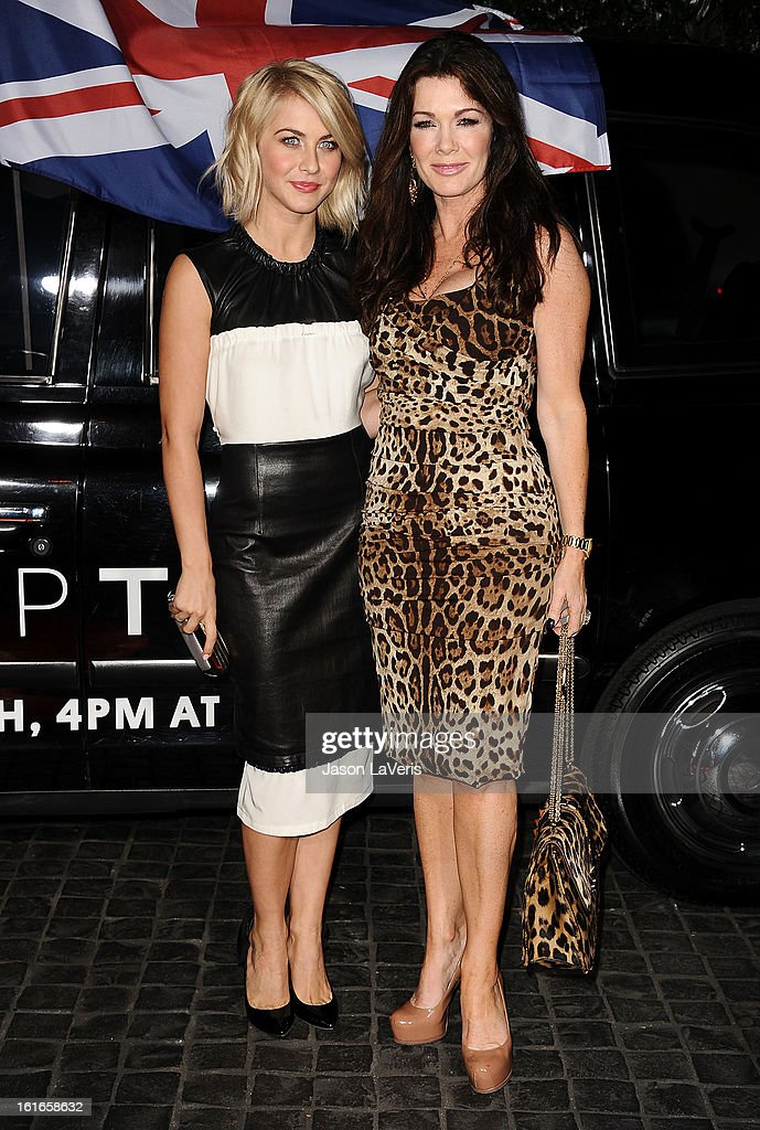 Julianne Hough and Lisa Vanderpump attend the Topshop Topman LA flagship store opening party at Cecconi's Restaurant on February 13, 2013 in Los Angeles, California.