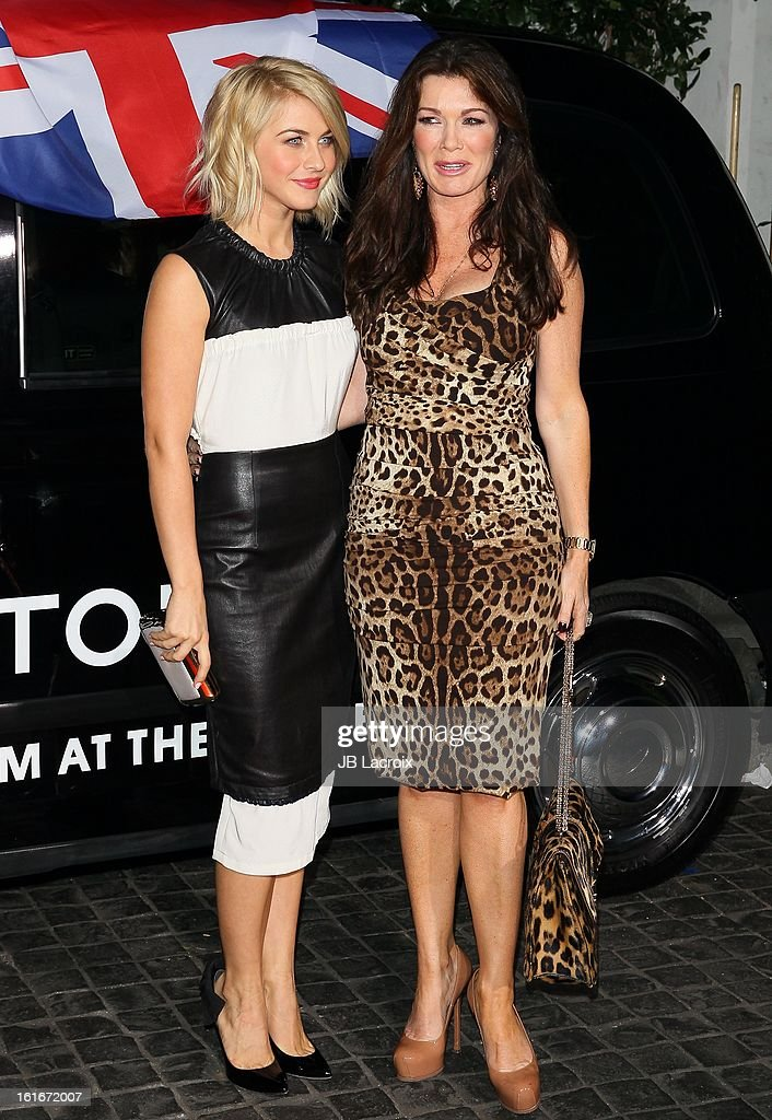 Julianne Hough and Lisa Vanderpump attend the Topshop Topman LA Opening Party held at Cecconi's Restaurant on February 13, 2013 in Los Angeles, California.