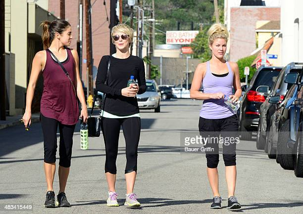 Julianne Hough and Nikki Reed are seen on April 08 2014 in Los Angeles California
