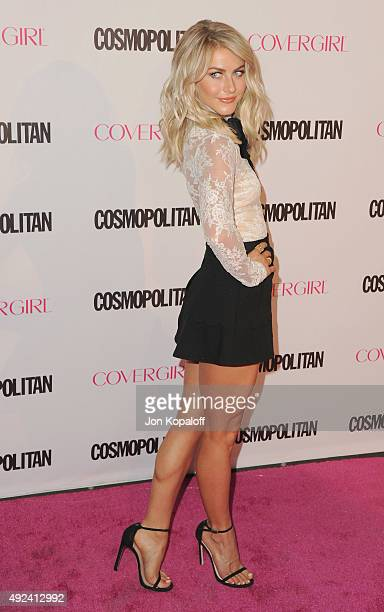 Julianne Hough arrives at Cosmopolitan Magazine's 50th Birthday Celebration at Ysabel on October 12 2015 in West Hollywood California