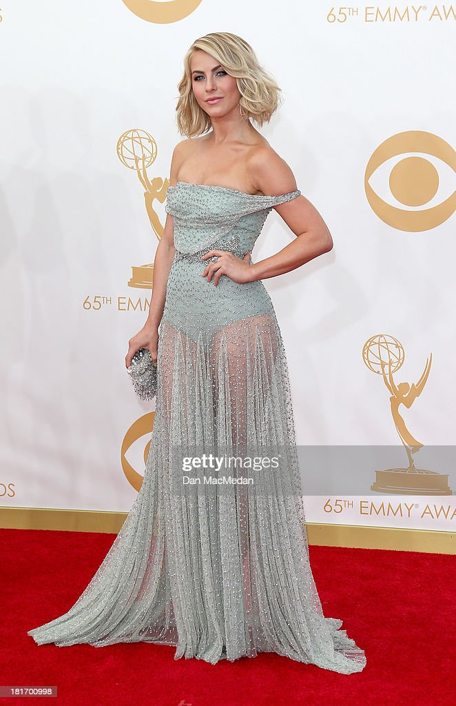 Julianne Hough arrives at the 65th Annual Primetime Emmy Awards at Nokia Theatre L.A. Live on September 22, 2013 in Los Angeles, California.