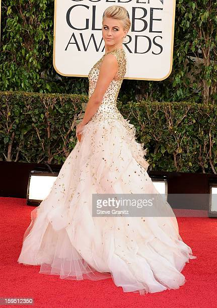 Julianne Hough arrives at the 70th Annual Golden Globe Awards at The Beverly Hilton Hotel on January 13 2013 in Beverly Hills California
