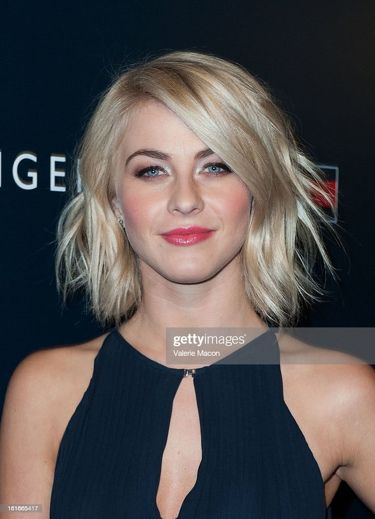 <a gi-track='captionPersonalityLinkClicked' href=/galleries/search?phrase=Julianne+Hough&family=editorial&specificpeople=4237560 ng-click='$event.stopPropagation()'>Julianne Hough</a> arrives at the Tommy Hilfiger LA Flagship Opening on February 13, 2013 in Los Angeles, California.