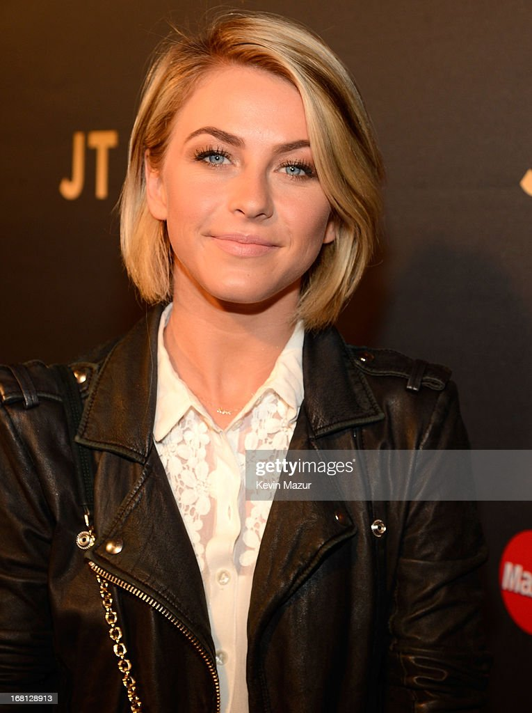<a gi-track='captionPersonalityLinkClicked' href=/galleries/search?phrase=Julianne+Hough&family=editorial&specificpeople=4237560 ng-click='$event.stopPropagation()'>Julianne Hough</a> attends MasterCard Priceless Premieres Presents Justin Timberlake at Roseland Ballroom on May 5, 2013 in New York City.