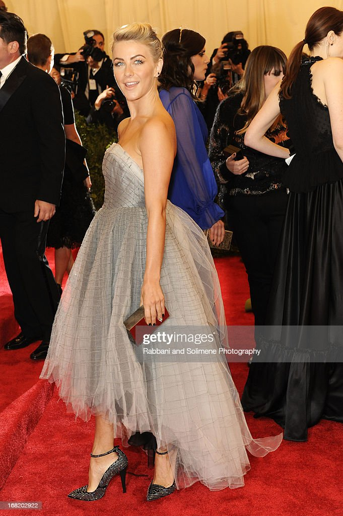Julianne Hough attends the Costume Institute Gala for the 'PUNK: Chaos to Couture' exhibition at the Metropolitan Museum of Art on May 6, 2013 in New York City.