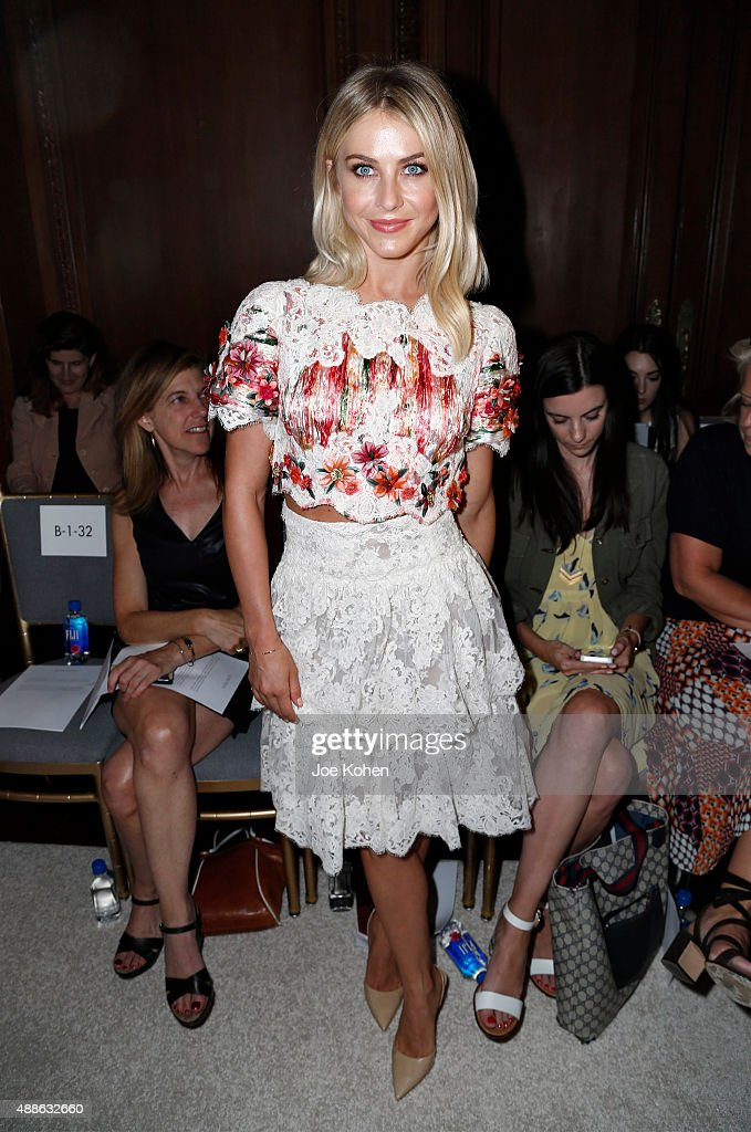 Julianne Hough attends the Marchesa Spring 2016 fashion show during New York Fashion Week at St. Regis Hotel on September 16, 2015 in New York City.