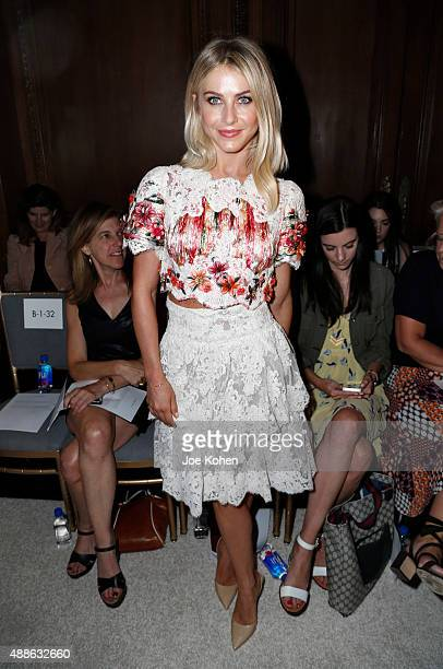 Julianne Hough attends the Marchesa Spring 2016 fashion show during New York Fashion Week at St Regis Hotel on September 16 2015 in New York City