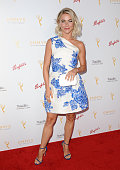 Julianne Hough attends the Television Academy's cocktail reception for the 67th Emmy Award nominees for Outstanding Choreography at Montage Beverly...