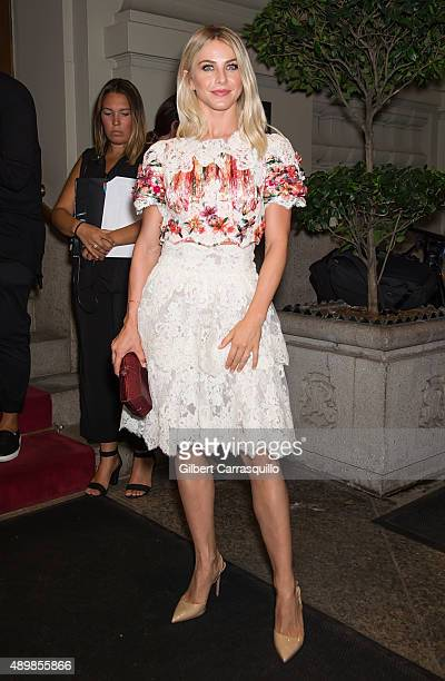 Julianne Hough is seen arriving at Marchesa fashion show during Spring 2016 New York Fashion Week at St Regis Hotel on September 16 2015 in New York...