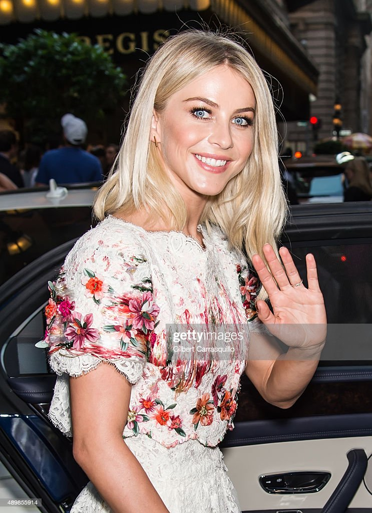 Julianne Hough is seen arriving at Marchesa fashion show during Spring 2016 New York Fashion Week at St. Regis Hotel on September 16, 2015 in New York City.