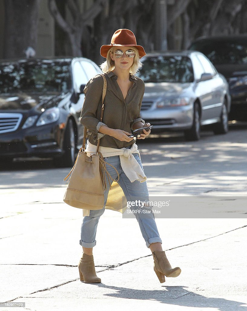<a gi-track='captionPersonalityLinkClicked' href=/galleries/search?phrase=Julianne+Hough&family=editorial&specificpeople=4237560 ng-click='$event.stopPropagation()'>Julianne Hough</a> is seen on October 2, 2013 in Los Angeles, California.