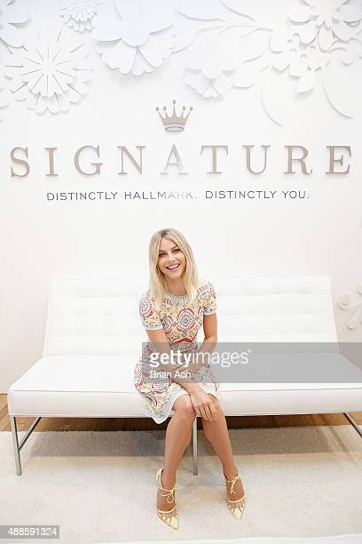 Julianne Hough kicks off Hallmark Signature's popup shop at New York's Fashion Week on September 16 2015 in New York City