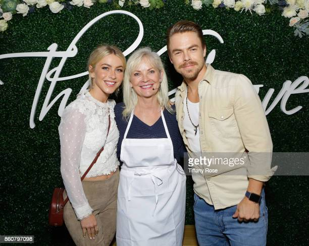 Julianne Hough mother Marriann Nelson and Derek Hough attend the Paint Sip Help event to Benefit Children's Hospital Los Angeles hosted by The Grove...