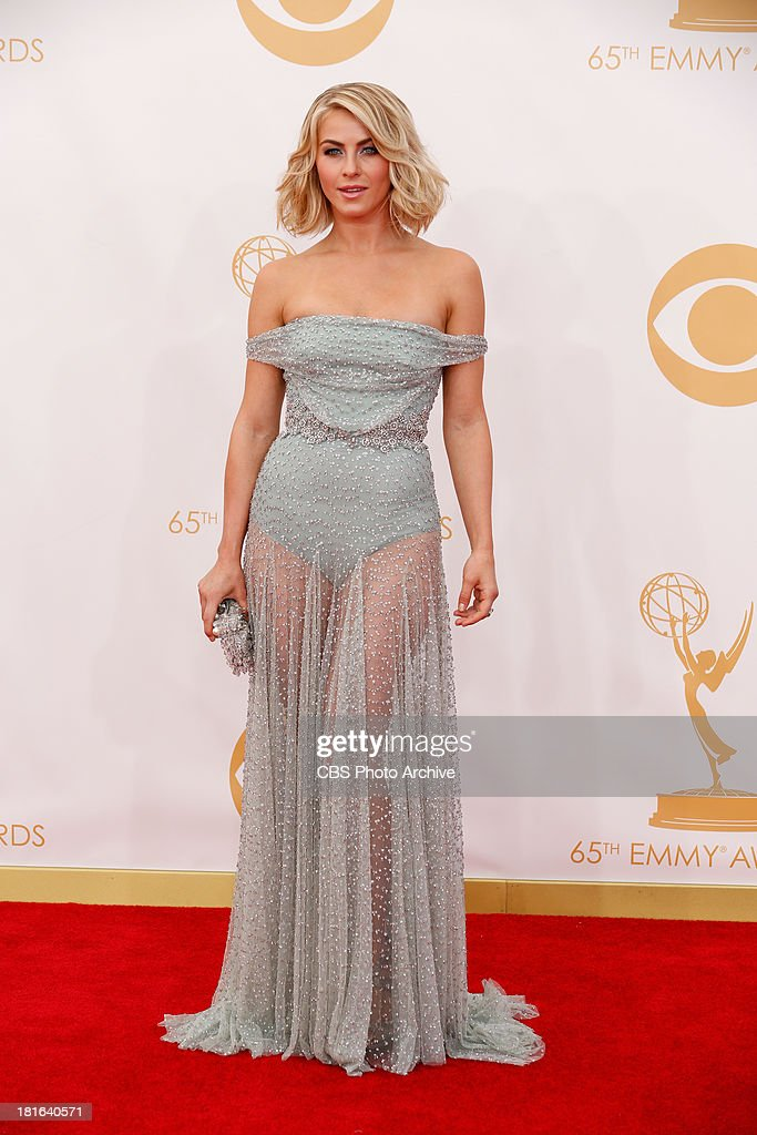 <a gi-track='captionPersonalityLinkClicked' href=/galleries/search?phrase=Julianne+Hough&family=editorial&specificpeople=4237560 ng-click='$event.stopPropagation()'>Julianne Hough</a> on the Red Carpet for the 65th Primetime Emmy Awards, which will be broadcast live across the country 8:00-11:00 PM ET/ 5:00-8:00 PM PT from NOKIA Theater L.A. LIVE in Los Angeles, Calif., on Sunday, Sept. 22 on the CBS Television Network.