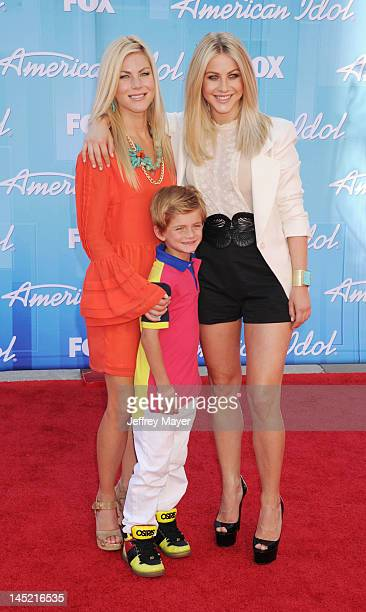 Julianne Hough sister and nephew attend 'American Idol' Season 11 Grand Finale Show at Nokia Theatre LA Live on May 23 2012 in Los Angeles California