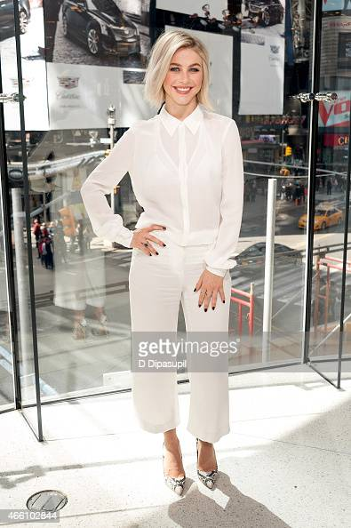 Julianne Hough visits 'Extra' at their New York studios at HM in Times Square on March 13 2015 in New York City