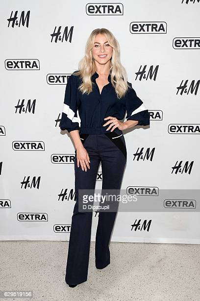 Julianne Hough visits 'Extra' at their New York studios at HM in Times Square on December 13 2016 in New York City