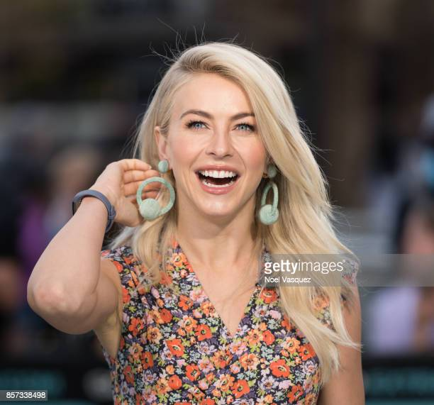 Julianne Hough visits 'Extra' at Universal Studios Hollywood on October 3 2017 in Universal City California