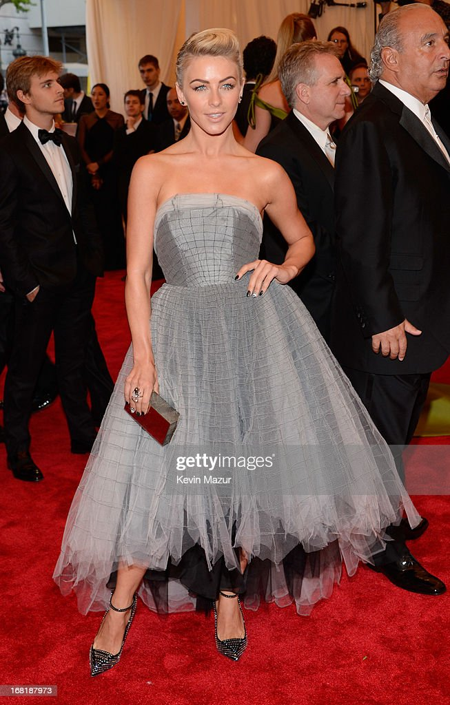 Julianne Hough wearing custom Topshop attends the Costume Institute Gala for the 'PUNK: Chaos to Couture' exhibition at the Metropolitan Museum of Art on May 6, 2013 in New York City.