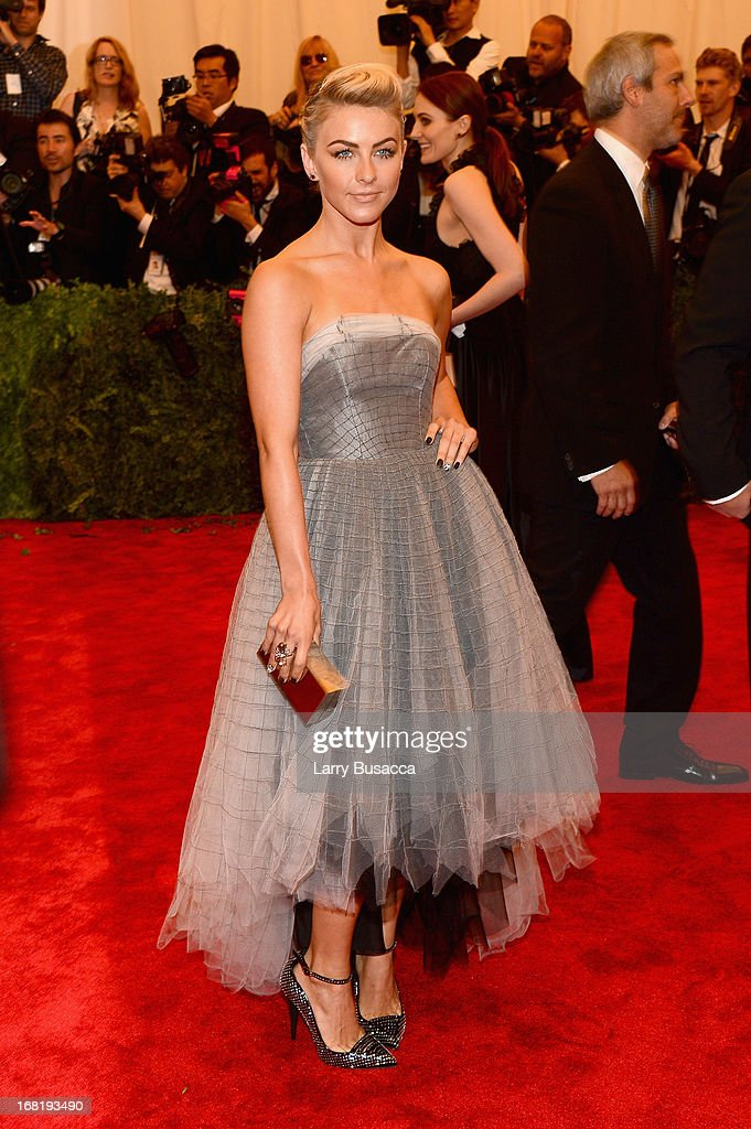 Julianne Hough, wearing custom Topshop, attends the Costume Institute Gala for the 'PUNK: Chaos to Couture' exhibition at the Metropolitan Museum of Art on May 6, 2013 in New York City.