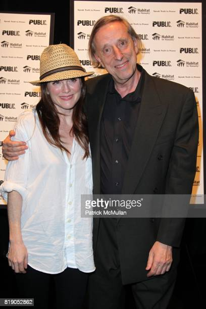 Julianne Moore and Ariel Dorfman attend THE PUBLIC THEATRE Presents a OneNightOnly Benefit Reading of SPEAK TRUTH TO POWER Voice Beyond the Dark at...