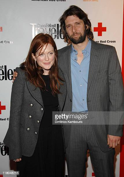 Julianne Moore and Bart Freundlich during 2007 Conde Nast Traveler Hot List Party Arrivals in New York City New York United States