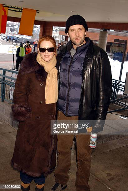 Julianne Moore and director Bart Freundlich during 2002 Sundance Film Festival 'World Traveler' Premiere at Eccles Center for the Performing Arts in...