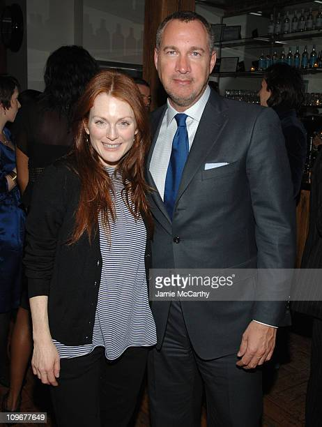 Julianne Moore and Edward Menicheschi Publisher and Vice President of 'Vanity Fair'