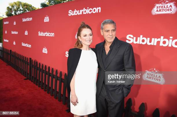 Julianne Moore and George Clooney at the Premiere of Paramount Pictures' 'Suburbicon' at Regency Village Theatre on October 22 2017 in Westwood...