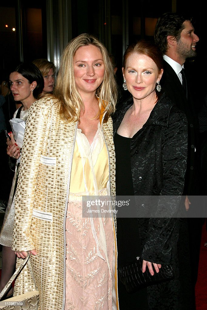 Julianne Moore and Hope Davis during 40th New York Film Festival - Opening Night - 'About Schmidt ' Premiere at Avery Fisher Hall, Lincoln Center in New York, New York, United States.