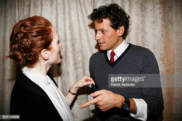 Julianne Moore and Ioan Gruffudd attend TOMMY HILFIGER Fall 2008 Fashion Show at Avery Fisher Hall on February 7 2008 in New York City