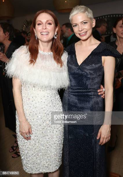 Julianne Moore and Michelle Williams attend the 'Wonderstruck' Cannes After Party on May 18 2017 in Cannes
