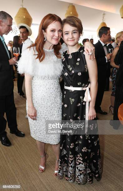 Julianne Moore and Millicent Simmonds attend the Amazon Studios official after party for 'Wonderstruck' at the iconic Nikki Beach popup venue during...