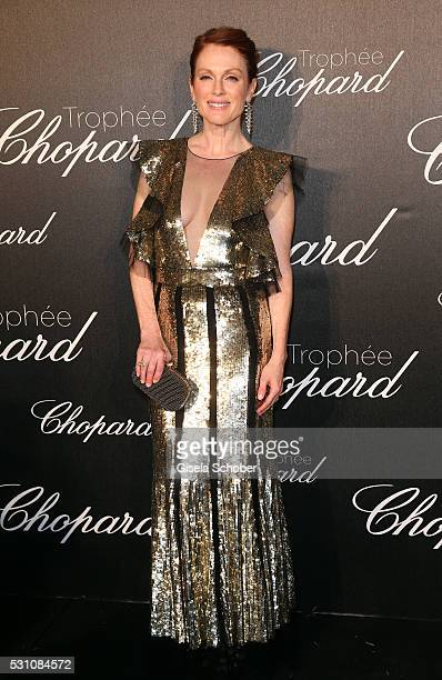 Julianne Moore arrives at the Chopard Trophy Ceremony at the annual 69th Cannes Film Festival at Hotel Martinez on May 12 2016 in Cannes France