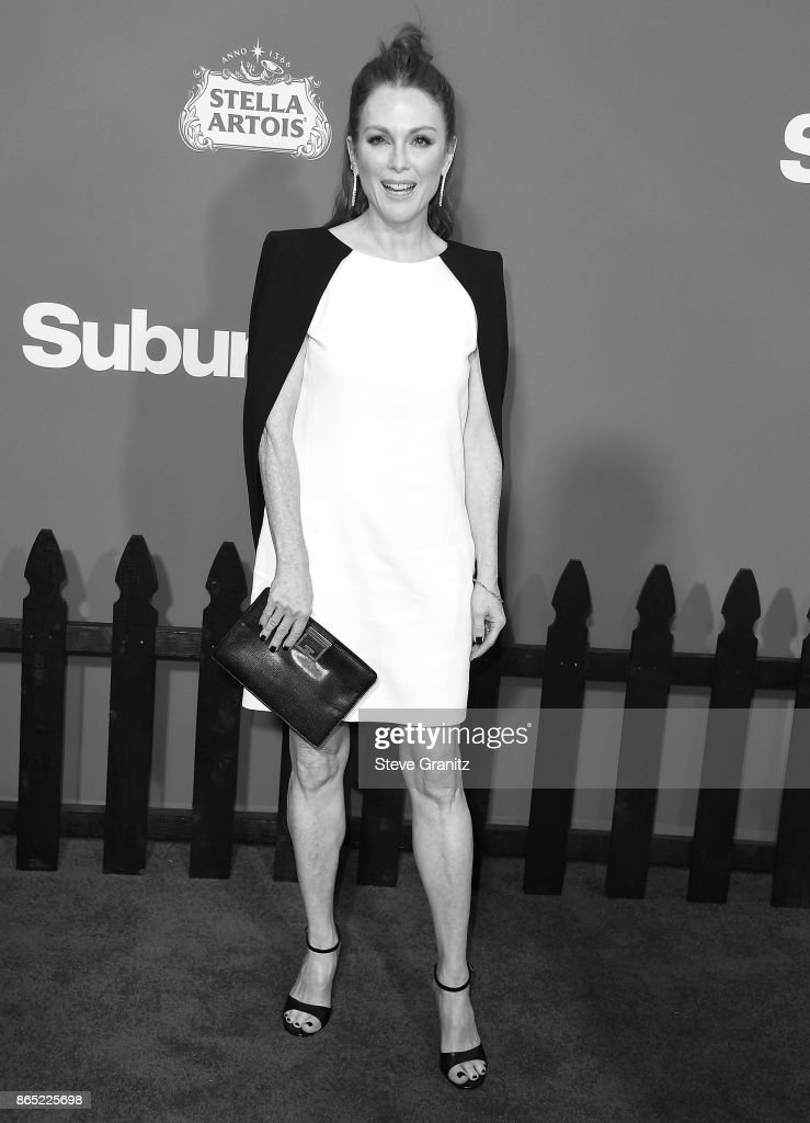 Julianne Moore arrives at the Premiere Of Paramount Pictures' 'Suburbicon' at Regency Village Theatre on October 22, 2017 in Westwood, California.