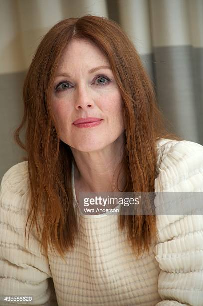 Julianne Moore at 'The Hunger Games Mockingjay Part 2' Press Conference at the Hotel De Rome on November 3 2015 in Berlin Germany