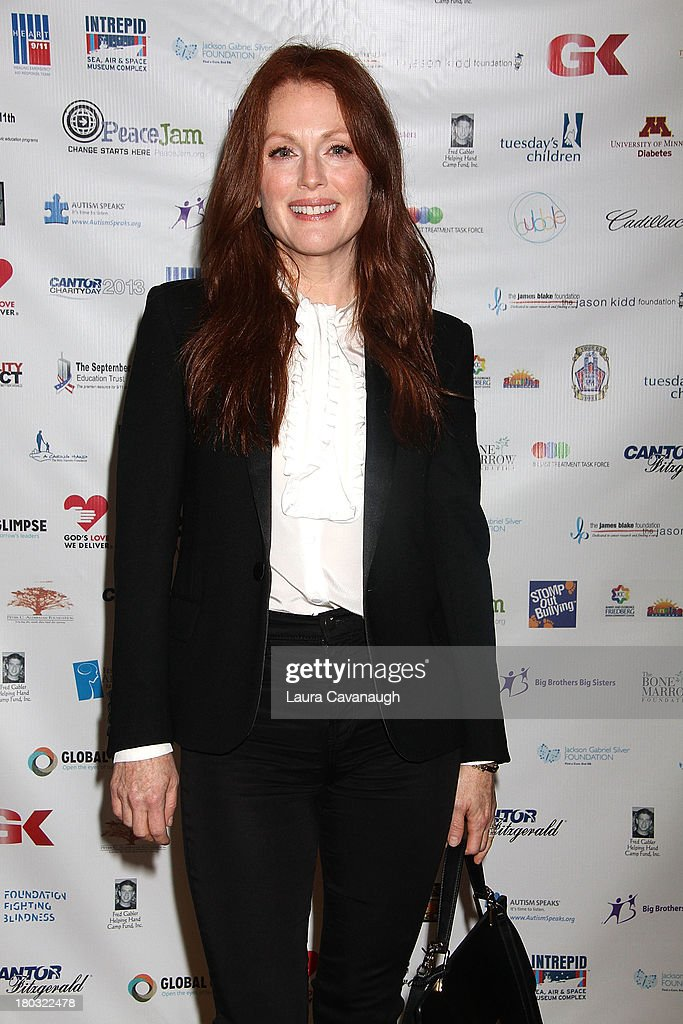 <a gi-track='captionPersonalityLinkClicked' href=/galleries/search?phrase=Julianne+Moore&family=editorial&specificpeople=171555 ng-click='$event.stopPropagation()'>Julianne Moore</a> attends Cantor Fitzgerald And BGC Partners Annual Charity Day at Cantor Fitzgerald on September 11, 2013 in New York City.