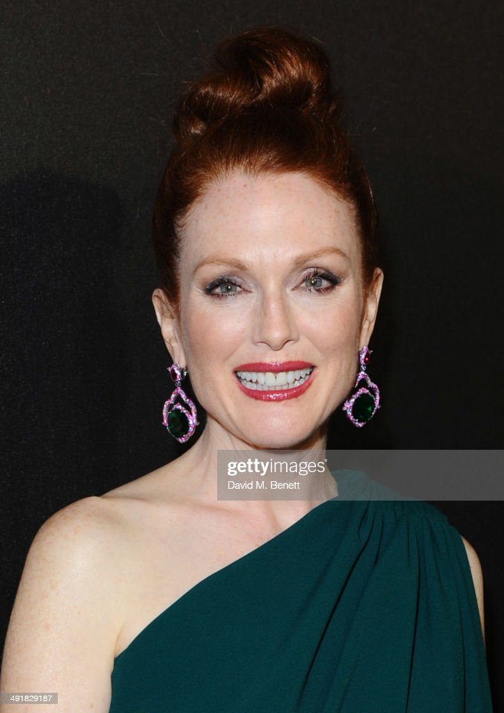 Julianne Moore attends Lionsgate's 'The Hunger Games: Mockingjay Part 1' party at a private villa on May 17, 2014 in Cannes, France.