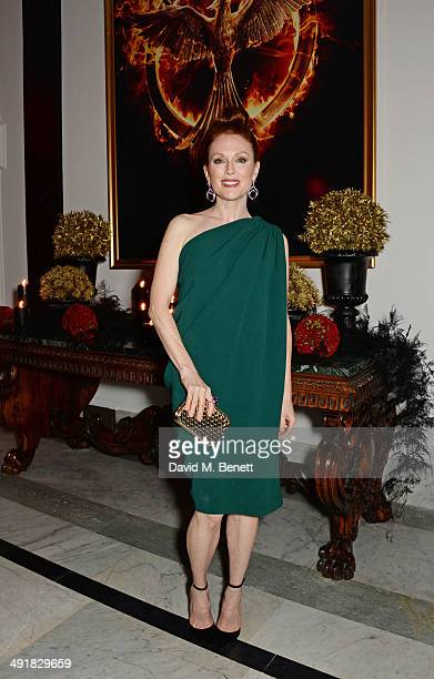 Julianne Moore attends Lionsgate's 'The Hunger Games Mockingjay Part 1' party at a private villa on May 17 2014 in Cannes France
