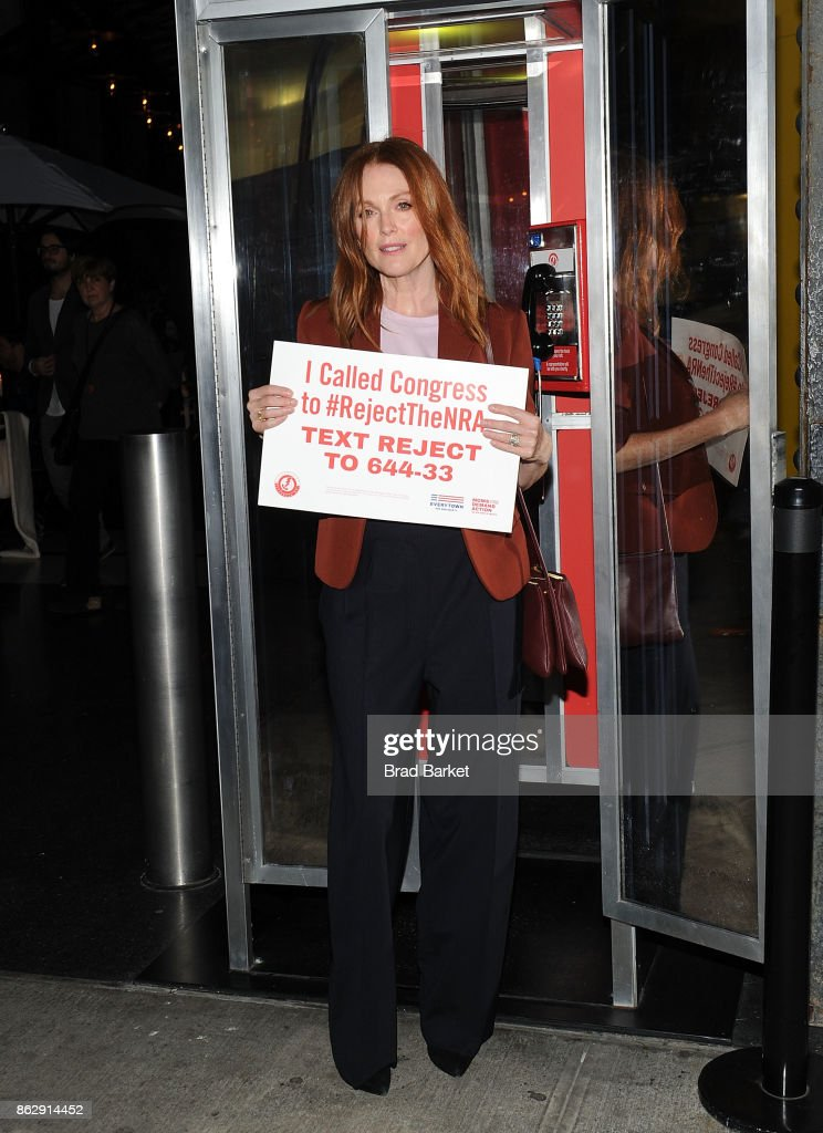 Julianne Moore attends #RejectTheNRA Campaign Launch the at The Standard, High Line on October 18, 2017 in New York City.