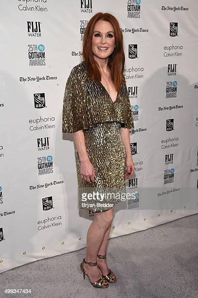 Julianne Moore attends the 25th IFP Gotham Independent Film Awards cosponsored by FIJI Water on November 30 2015 in New York City