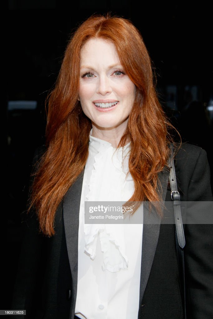 <a gi-track='captionPersonalityLinkClicked' href=/galleries/search?phrase=Julianne+Moore&family=editorial&specificpeople=171555 ng-click='$event.stopPropagation()'>Julianne Moore</a> attends the Annual Charity Day Hosted By Cantor Fitzgerald And BGC at the Cantor Fitzgerald Office on September 11, 2013 in New York, United States.