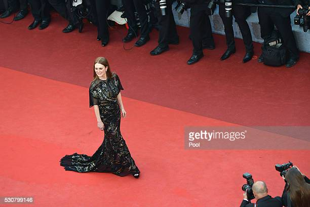 Julianne Moore attends the 'Cafe Society' premiere and the Opening Night Gala during the 69th annual Cannes Film Festival at the Palais des Festivals...