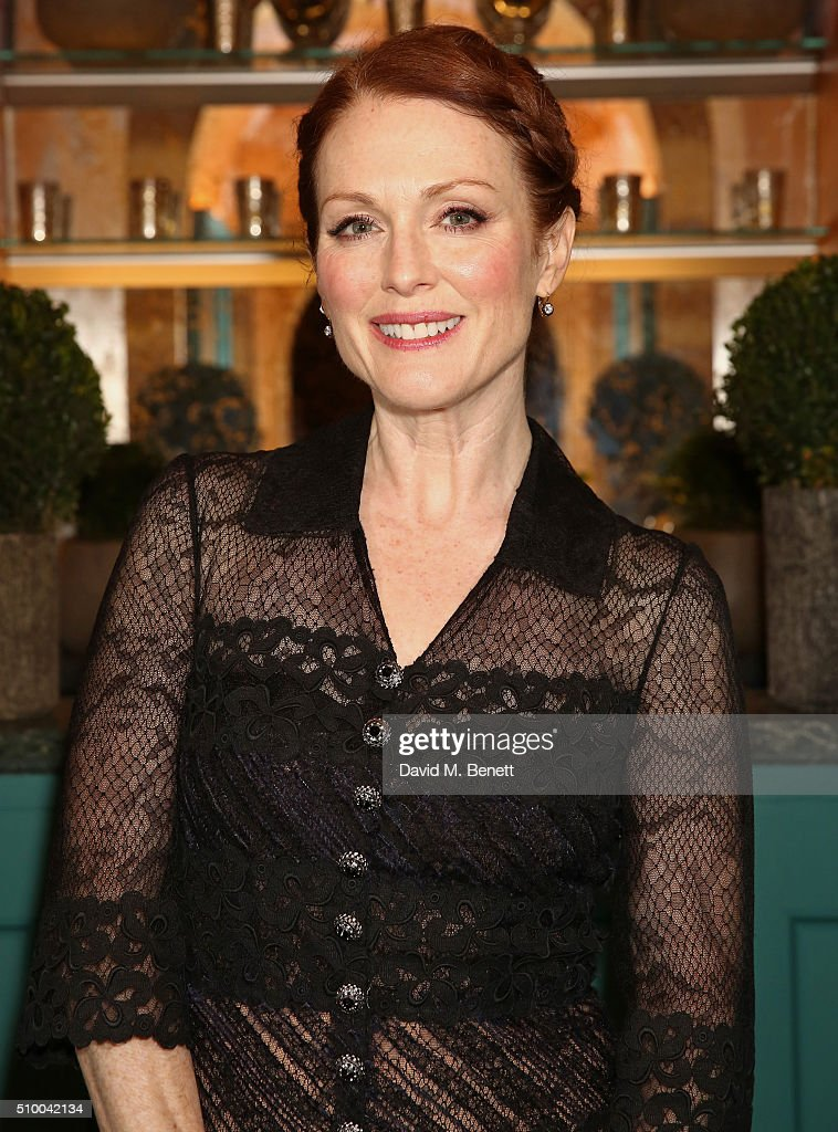 <a gi-track='captionPersonalityLinkClicked' href=/galleries/search?phrase=Julianne+Moore&family=editorial&specificpeople=171555 ng-click='$event.stopPropagation()'>Julianne Moore</a> attends the Charles Finch and Chanel Pre-BAFTA cocktail party and dinner at Annabel's on February 13, 2016 in London, England.