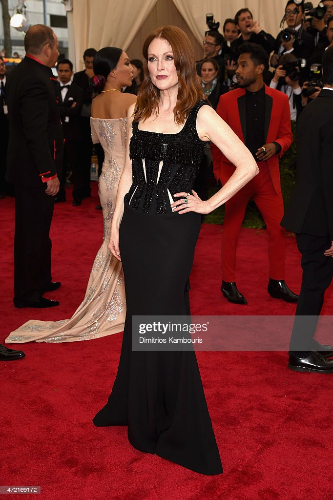 Julianne Moore attends the 'China Through The Looking Glass' Costume Institute Benefit Gala at the Metropolitan Museum of Art on May 4 2015 in New...