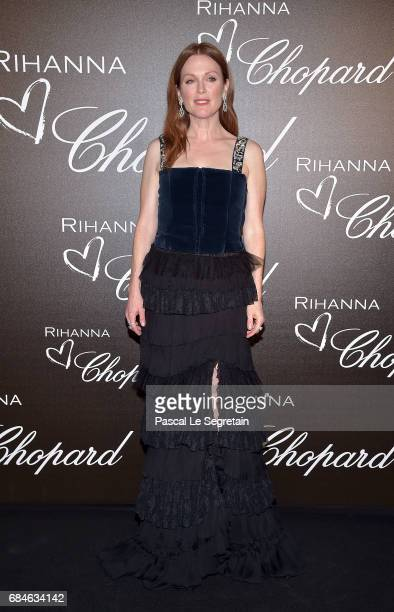 Julianne Moore attends the Chopard dinner in honour of Rihanna and the Rihanna X Chopard Collection during the 70th annual Cannes Film Festival on...