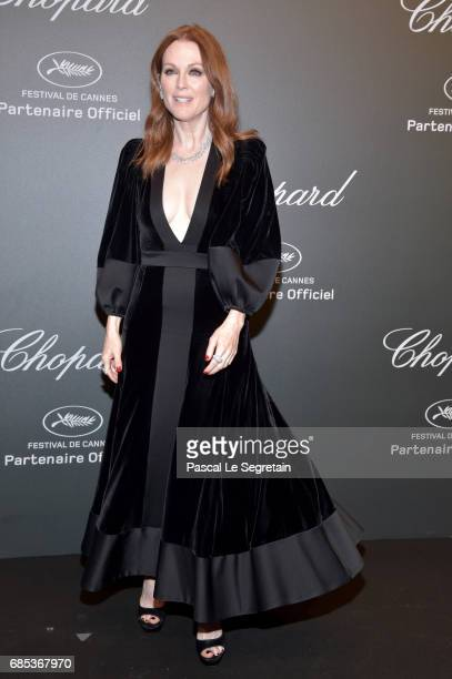 """Julianne Moore attends the Chopard """"SPACE Party"""" hosted by Chopard's copresident Caroline Scheufele and Rihanna at Port Canto on May 19 in Cannes..."""