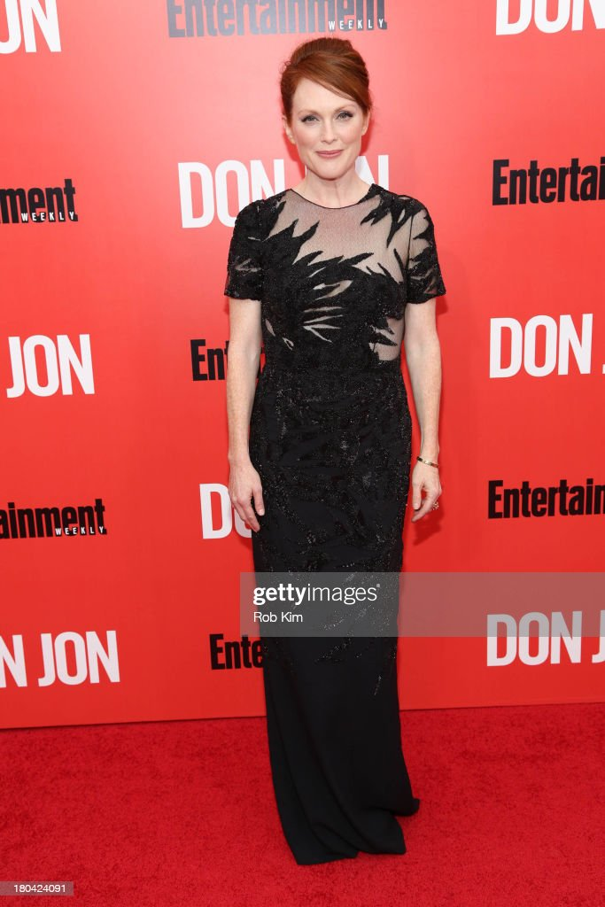<a gi-track='captionPersonalityLinkClicked' href=/galleries/search?phrase=Julianne+Moore&family=editorial&specificpeople=171555 ng-click='$event.stopPropagation()'>Julianne Moore</a> attends the 'Don Jon' New York premiere at SVA Theater on September 12, 2013 in New York City.
