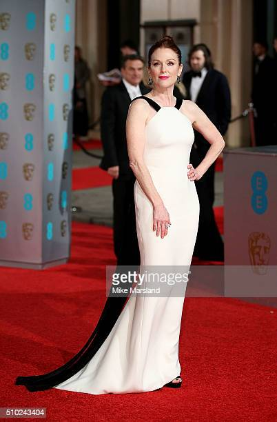 Julianne Moore attends the EE British Academy Film Awards at The Royal Opera House on February 14 2016 in London England