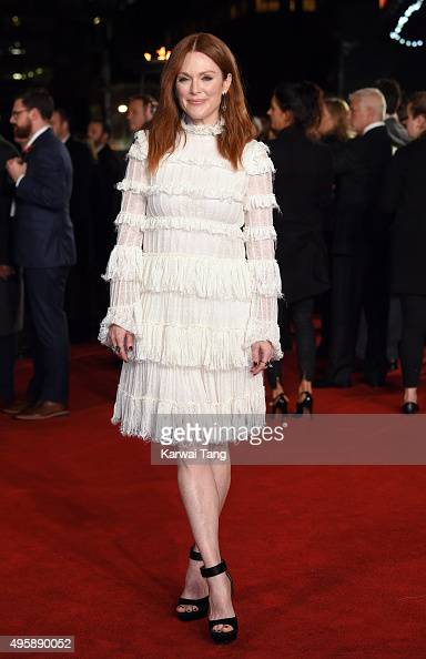 Julianne Moore attends The Hunger Games Mockingjay Part 2 UK Premiere at Odeon Leicester Square on November 5 2015 in London England
